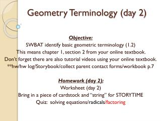 Geometry Terminology (day 2)