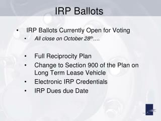 IRP Ballots