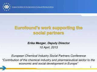 Eurofound's  work supporting the social partners
