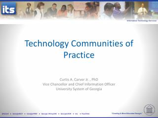Technology Communities  of  Practice