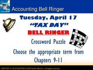 Accounting Bell Ringer