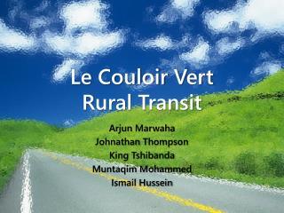 Le Couloir Vert Rural Transit