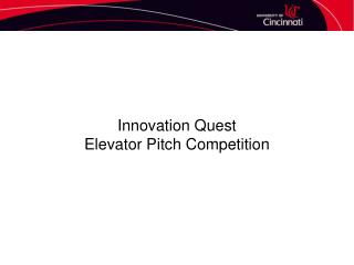Innovation Quest Elevator Pitch Competition