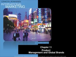 Chapter 11 Product   Management and Global Brands
