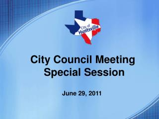 City Council Meeting  Special Session