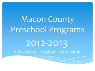 Macon County Preschool Programs
