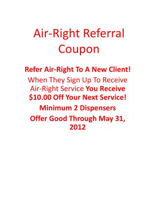 Air-Right Referral Coupon