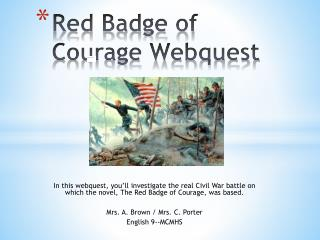 Red Badge of Courage Webquest