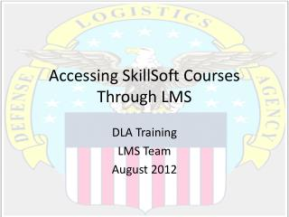 Accessing  SkillSoft  Courses Through LMS