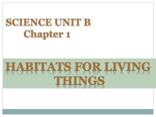 HABITATS  FOr  LIVING  THINGS