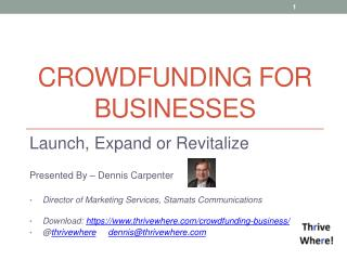 Crowdfunding for  Businesses