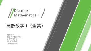 Discrete  Mathematics I