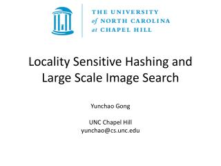 Locality Sensitive Hashing and Large Scale Image Search