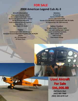 FOR SALE 2008 American Legend Cub AL-3