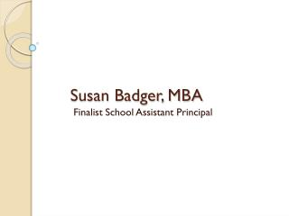 Susan Badger, MBA