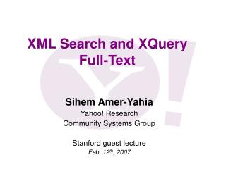 XML Search and XQuery Full-Text