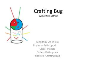 Crafting Bug By: Mattie E Lathem