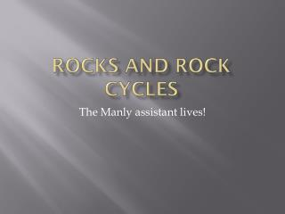 Rocks and rock cycles
