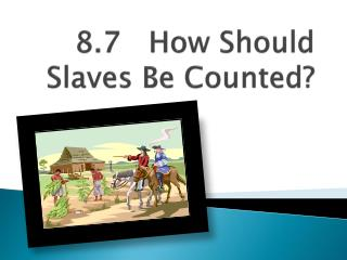 8.7   How Should Slaves Be Counted?