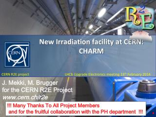 New Irradiation facility at CERN:  CHARM