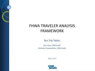 FHWA Traveler ANALYSIS FRAMEWORK