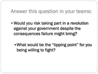 Answer this question in your teams: