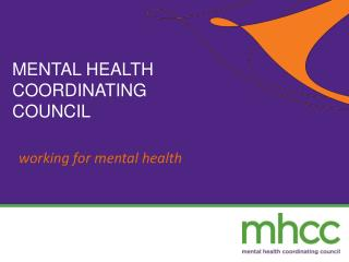 w orking for mental health