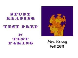 Study Reading  Test  Prep &  Test  Taking