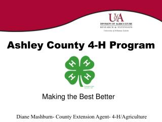 Ashley County 4-H Program