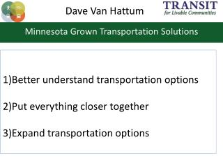 Minnesota Grown Transportation Solutions