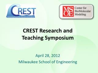 CREST Research and Teaching Symposium
