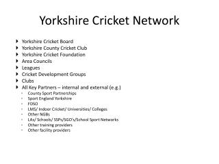 Yorkshire Cricket Network