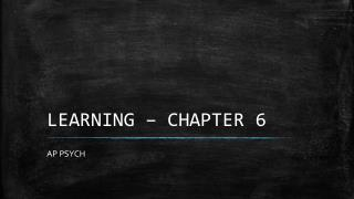 LEARNING – CHAPTER 6