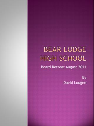 Bear Lodge High School
