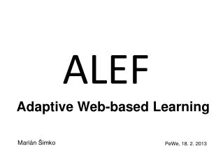Adaptive Web-based Learning