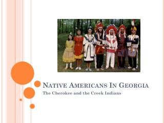 Native Americans In Georgia