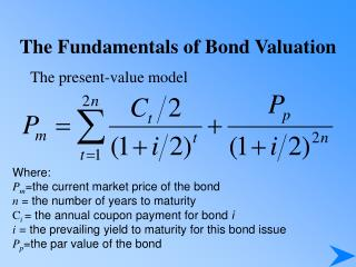 The Fundamentals of Bond Valuation