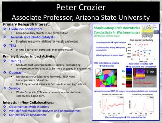 Peter Crozier Associate Professor, Arizona State University