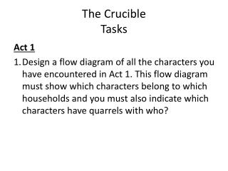 The Crucible Tasks