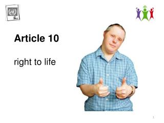 Article 10 r ight  to life