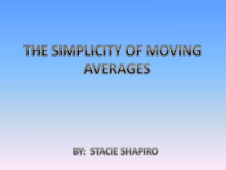 THE SIMPLICITY OF MOVING AVERAGES
