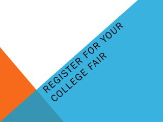 Register for your college fair
