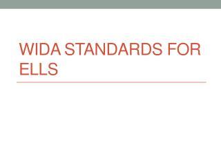 WIDA Standards for ELLs