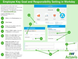 Employee Key Goal and Responsibility Setting in Workday