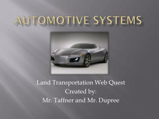 Automotive Systems