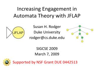 Increasing Engagement in Automata Theory with JFLAP