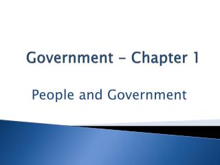 Government - Chapter 1