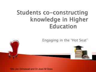 Students co-constructing knowledge in Higher Education