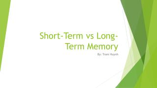 Short-Term vs Long-Term Memory