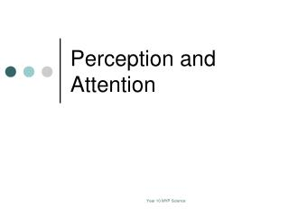 Perception and Attention